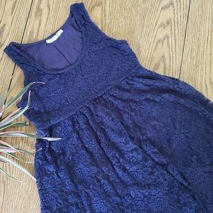 NWOT Maternity sleeveless lace dress
